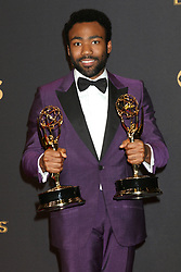 September 17, 2017 - Los Angeles, CA, USA - LOS ANGELES - SEP 17:  Donald Glover at the 69th Primetime Emmy Awards - Press Room at the JW Marriott Gold Ballroom on September 17, 2017 in Los Angeles, CA  (Credit Image: © Kathy Hutchins via ZUMA Wire)