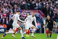 Eric Dier (England) wins the ball from Mateo Kovačić (Croatia) during the UEFA Nations League match between England and Croatia at Wembley Stadium, London, England on 18 November 2018.