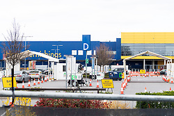© Licensed to London News Pictures. 31/03/2020. London, UK. A drive-through Covid-19 testing facility NHS staff members at IKEA Wembley. The facility is only available to NHS staff members.Photo credit: Ray Tang/LNP