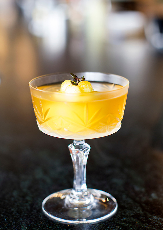 The Yuzu del Toro features yuzu, rum, and almond at Travail and the Rookery in Robbinsdale April 18, 2014.