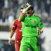 Besiktas's goalkeeper Rustu RENCBER during their Turkish Superleague Derby match Besiktas between Galatasaray at the Inonu Stadium at Dolmabahce in Istanbul Turkey on Saturday, 30 April 2011. Photo by TURKPIX