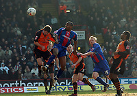 Photo: Kevin Poolman.<br />Crystal Palace v Ipswich Town. Coca Cola Championship. 18/03/2006. <br />Clinton Morrison heads home Palace's 2nd goal.