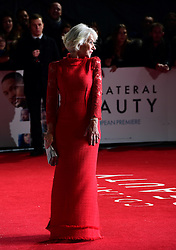 Dame Helen Mirren attending the European premiere of Collateral Beauty, held at the Vue Leicester Square, London.