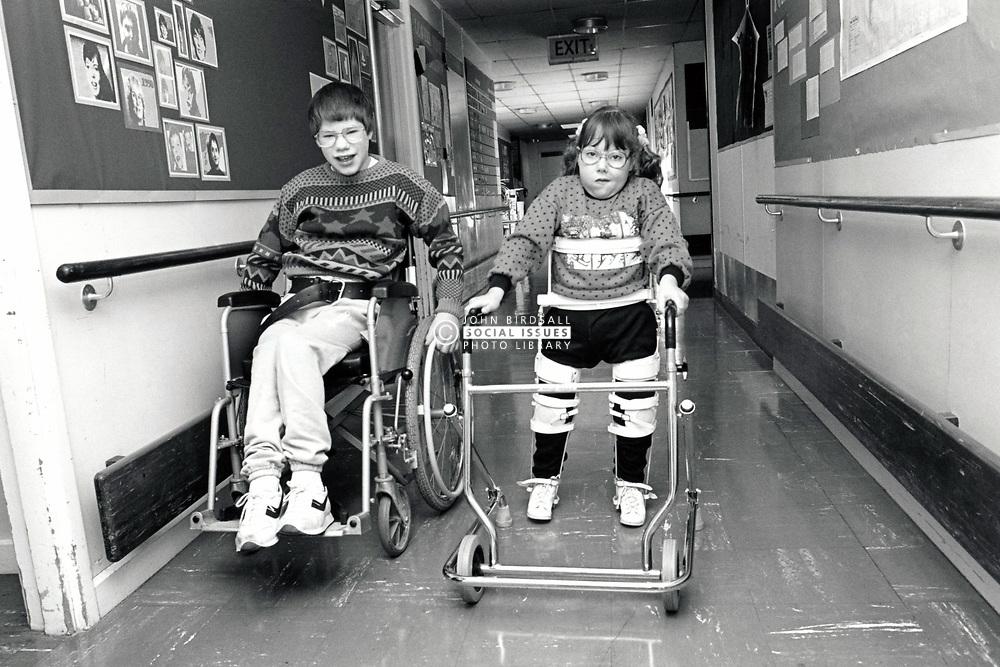 Aspley Wood Special School, Nottingham UK 1989. The school closed in 2009
