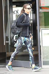 EXCLUSIVE ALL ROUNDER PIPPA LEAVES HER GYM IN LONDON IN MULTI COLOURED TRACK PANTS WITH EXREMELY TONED THIGHS<br /> <br /> 5 May 2017.<br /> <br /> Please byline: Vantagenews.com