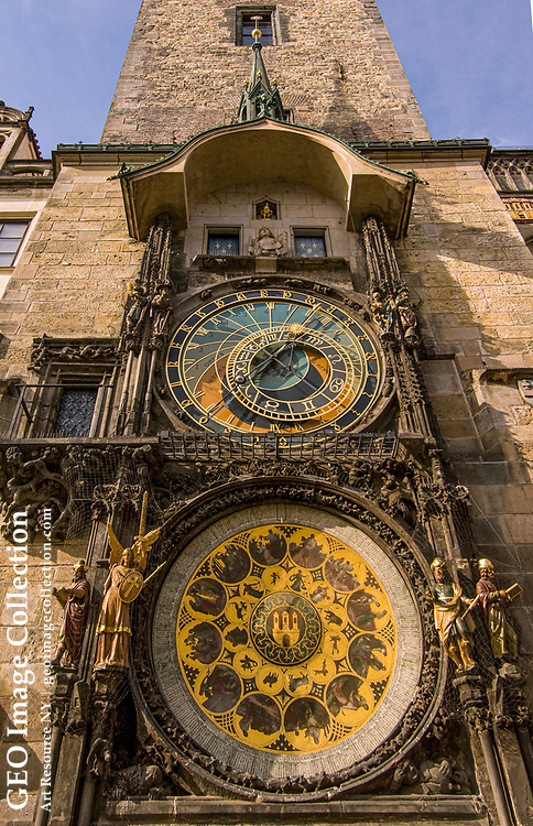 The clock tower at Old Town Square, Prague.