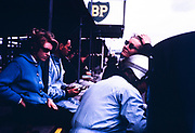Pat Coundley and Mary de Selincourt, John Coundley in helmet, Goodwood BARC race meeting 18th May 1963, John Coundley Racing Partnership