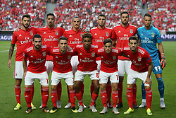 August 21, 2018 - Lisbon, Portugal - Benfica's starter team before the UEFA Champions League play-off first leg match SL Benfica vs PAOK FC at the Luz Stadium in Lisbon, Portugal on August 21, 2018. (Credit Image: © Pedro Fiuza via ZUMA Wire)