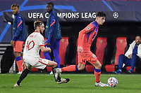 SEVILLE, SPAIN - DECEMBER 02: Ivan Rakitic of FC Sevilla and Kai Havertz of Chelsea FC during the UEFA Champions League Group E stage match between FC Sevilla and Chelsea FC at Estadio Ramon Sanchez-Pizjuan on December 2, 2020 in Seville, Spain. (Photo by Juan Jose Ubeda/MB Media)