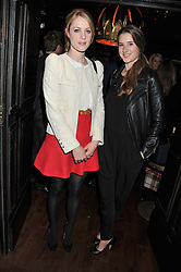 Left to right, EMMA WIGAN and CALANTHA BONNISSENT at the launch of the Johnnie Walker Blue Label Club held at The Scotch, Mason's Yard, London on 1st May 2012.