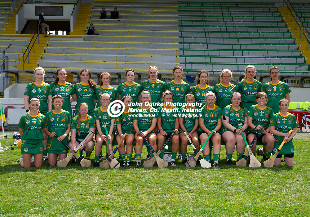 25-07-21. Meath v Dublin All-Ireland Intermediate Camogie Championship (Group 1) at Pairc Tailteann, Navan.<br />The Meath panel which defeated Dublin in the All-Ireland Intermediate Camogie Championship L to R.<br />Back: Ellen Burke, Niamh Daly, Andrea McBride, Eimear Fagan, Sinead Hackett, Grace Coleman, Kristina Troy (Capt), Claire Coffey, Maggie Randle, Aoife Minogue, Leah Devine.<br />Front: Amy Gaffney, Tracy King, Sophie Healy, Megan Thynne, Sophia Payne, Aedin Slattery, Jane Dolan, Maire Kirby, Katie Smith, Amy Farrelly, Maeve Clince and Louise Donoghue.<br />Photo: John Quirke / www.quirke.ie<br />©John Quirke Photography, 16 Proudstown Road, Navan. Co. Meath. (info@quirke.ie / 046-9028461 / 087-2579454).