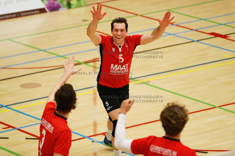 20180324 NED: Topdivisie Maatwerkers VCN - Next Volley Dordrecht, Capelle aan den IJssel <br />Daan Spijkers (5) of Maatwerkers VCN <br />©2018-FotoHoogendoorn.nl / Pim Waslander