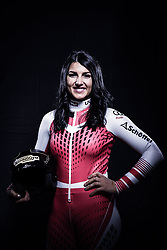 12.10.2019, Olympiahalle, Innsbruck, AUT, FIS Weltcup Ski Alpin, im Bild Stephanie Venier // during Outfitting of the Ski Austria Winter Collection and the official Austrian Ski Federation 2019/ 2020 Portrait Session at the Olympiahalle in Innsbruck, Austria on 2019/10/12. EXPA Pictures © 2020, PhotoCredit: EXPA/ JFK