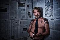 John McAfee, anti-virus software developer and bitcoin prophet shot for Inked Magazine.