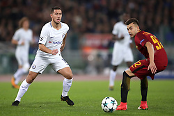 Chelsea's Eden Hazard (left) and Roma's Stephan El Shaarawy battle for the ball