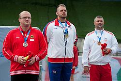 TINNEMEIER Frank, Aled Davies, TOMIC Mladen, 2014 IPC European Athletics Championships, Swansea, Wales, United Kingdom