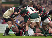 Leicester, Leicestershire, 3rd May 2003, Welford Road Stadium, [Mandatory Credit: Peter Spurrier/Intersport Images],Zurich Premiership Rugby - Leicester Tigers v London Irish<br /> Graham Rountree on the floor