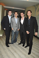 Brit Award nominated band BLAKE (Oliver Baines, Stephen Bowman, Jules Knight and Dominic Tigheat) the launch party for 'The End of Summer Ball' in Berkeley Square held at Nobu Berkeley, 15 Berkeley Street, London on 7th April 2008.<br /><br />NON EXCLUSIVE - WORLD RIGHTS