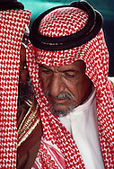 Abdul Mehsen bin Fetais Albhaih Almarri, a poet of the Albhih clan of the Almarri tribe visiting from Qatar.  With the Al Amrah in the Dahana Sands, Saudi Arabia