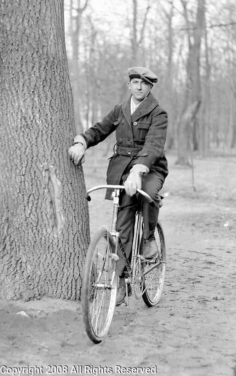 Estonian bicyclist Herbert Menke, poses in this photo taken in 1926.