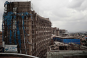 Lo scheletro di un edificio in costruzione, Addis Ababa 19 settembre 2014.  Christian Mantuano / OneShot <br /> <br /> The shell of a building under construction, Addis Ababa September 19, 2014.