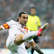 Galatasaray's Necati Ates during their friendly soccer match Galatasaray between ACF Fiorentina at the TT Arena in istanbul Turkey on Wednesday 08 August 2012. Photo by TURKPIX