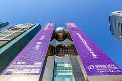 15-01-2015 QAT: IHF Handball World Championship, Doha<br /> Bild eine Skyline mit Handball WM Plakate // during the IHF Handball World Championship, Doha, Qatar <br /> ***NETHERLANDS ONLY***