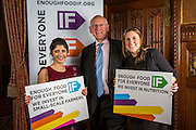 Concer Worldwide staff supporting the Enough Food for Everyone?IF campaign. .MP's and Peers attended the parliamentary launch of the IF campaign in the State Rooms of Speakers House, Palace of Westminster. London, UK.