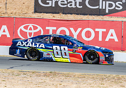 June 22, 2018 - Sonoma, CA, U.S. - SONOMA, CA - JUNE 22:  Alex Bowman, driving the #(88) Chevrolet for Hendrick Motorsports moves down toward turn 9 on Friday, June 22, 2018 at the Toyota/Save Mart 350 Practice day at Sonoma Raceway, Sonoma, CA (Photo by Douglas Stringer/Icon Sportswire) (Credit Image: © Douglas Stringer/Icon SMI via ZUMA Press)