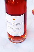 Domaine St Sebastien. Collioure. Roussillon. France. Europe. Bottle.