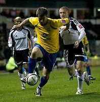 Photo: Steve Bond/Richard Lane Photography. Derby County v Crystal Palace. Coca Cola Championship. 06/12/2008. Przemyslaw Kazmierczak (R) is outpaced by Alan Lee (C)
