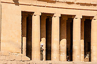 Luxor, Egypt. The Mortuary Temple of Hatshepsut is dedicated to the sun god Amon-Ra.