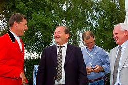 Philippaerts Ludo, Somers Lucien, Van Paesschen Stanny, Mathijssen Jacques, BEL<br /> CHIO Aachen 2001<br /> © Hippo Foto - Dirk Caremans<br /> 15/06/2001