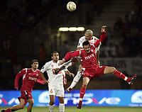 Fotball<br /> Frankrike<br /> Foto: Dppi/Digitalsport<br /> NORWAY ONLY<br /> <br /> FOOTBALL - UEFA CUP 2006/2007 - GROUP STAGE - GROUP E - AS NANCY v WISLA KRAKOW - 02/11/2006<br /> <br /> NORBERT VARGA (WIS) / DAMIAN MACALUSO (NAN)