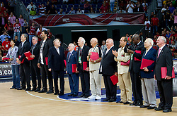 FIBA Hall of fame ceremony during the final basketball match between National teams of Turkey and USA at 2010 FIBA World Championships on September 12, 2010 at the Sinan Erdem Dome in Istanbul, Turkey.   (Photo By Vid Ponikvar / Sportida.com)