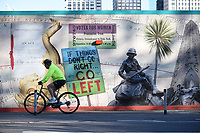 If things dont go right go left  Graffiti near Scotland Yard London photo by<br /> Krisztian Kobold Elek