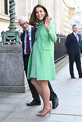 The Duchess of Cambridge arriving as she convenes a symposium on early intervention for children and families at the Royal Society of Medicine, London. Photo credit should read: Doug Peters/EMPICS Entertainment