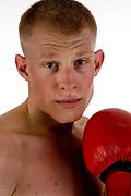 Tony Owen, ex-kick boxing champion, now a professional boxer.