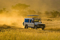 Safari vehicle, Serengeti National Park, Tanzania