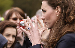 Kate Middleton meets well wishers during a visit to Witton Country Park in Darwen, Lancashire this afternoon, where she and Prince William are undertaking their last joint official engagement before their wedding.