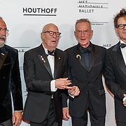 NLD/Amsterdam/20180908 - inloop Gala Het Nationale Ballet 2018, Oscar Hammersteijn, Hans van Manen en partner Henk van Dijk en .........
