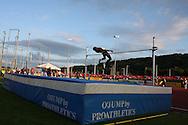 Super 8 athletics at the Cardiff International Stadium on Wed 10th June 2009. men's high jump event.