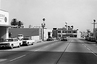 1973 Looking south on Cahuenga Blvd. from Sunset Blvd.