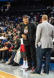 July 6, 2018 - Oakland, CA, U.S. - OAKLAND, CA - JULY 06: LL Cool J, rapper and entertainer stretches during halftime of game 4 in week three of the BIG3 3-on-3 basketball league on Friday, July 6, 2018 at the Oracle Arena in Oakland, CA(Photo by Douglas Stringer/Icon Sportswire) (Credit Image: © Douglas Stringer/Icon SMI via ZUMA Press)