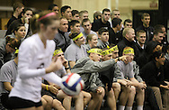 West Point, NY - Army fans watch their team play Lehigh in the Patriot League women's volleyball tournament at the United States Military Academy on  Nov. 21, 2009.