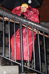 Nicky Minaj is seen arriving at the Marc Jacobs fashion show in New York<br /><br />13 September 2018.<br /><br />Please byline: Vantagenews.com
