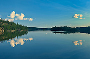 CLouds reflected in White Lake <br />