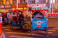 Bicycle rickshaw drivers, Beijing East Road, Lhasa, Tibet (Xizang), China.