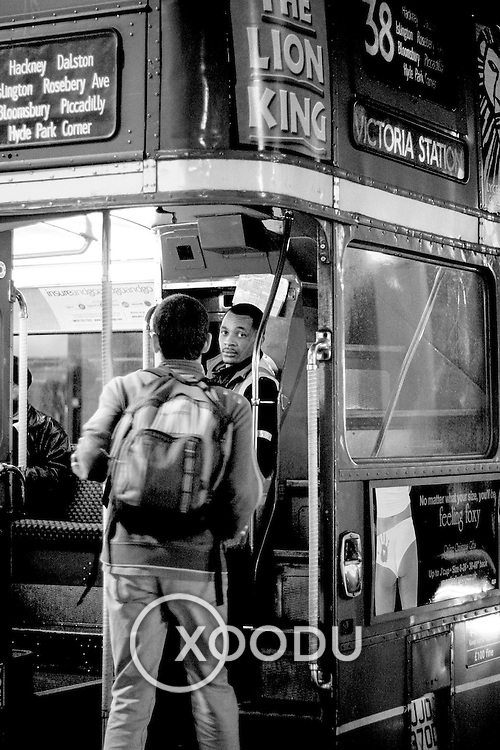 Number 38 bus conductor ii, London, England (November 2004)
