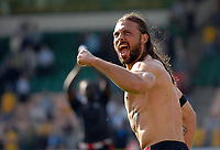 Photo: Ashley Pickering.<br /> Norwich City v Southampton. Coca Cola Championship. 28/04/2007.<br /> Alexander Ostlund of Southampton celebrates the win and possible play off place